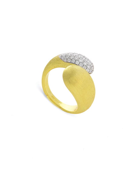 Marco Bicego Lucia 18k Diamond Bypass Ring, Size 7