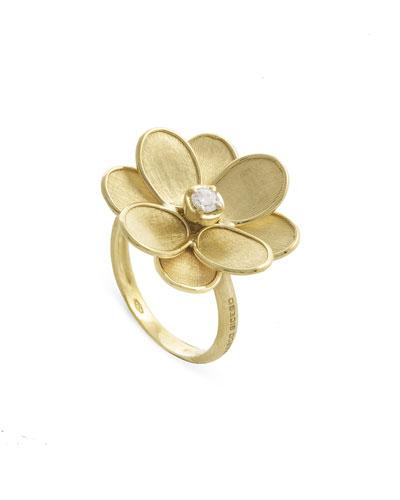 Petali 18k Flower Ring w/ Diamond