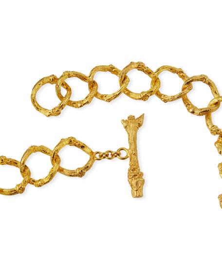 K Brunini Twig 18k O-Chain Necklace w/ Wood