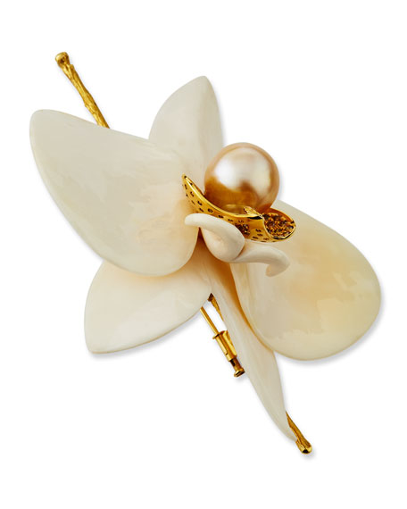 K Brunini Men's Large Orchid Pin