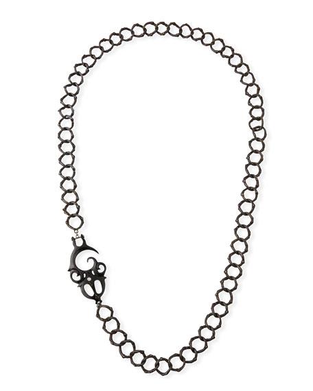 K Brunini Twig O-Chain Necklace w/ Buffalo Horn
