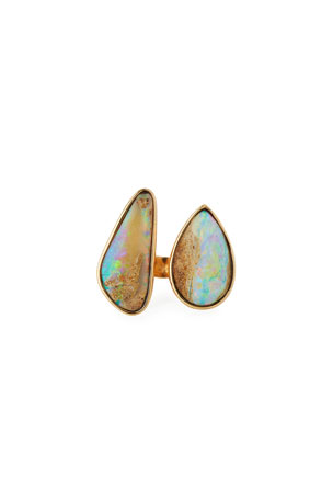 K Brunini Twig 18k Large Double-Opal Ring