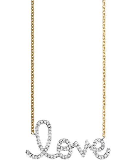 Sydney Evan 14k Diamond Big Love Necklace