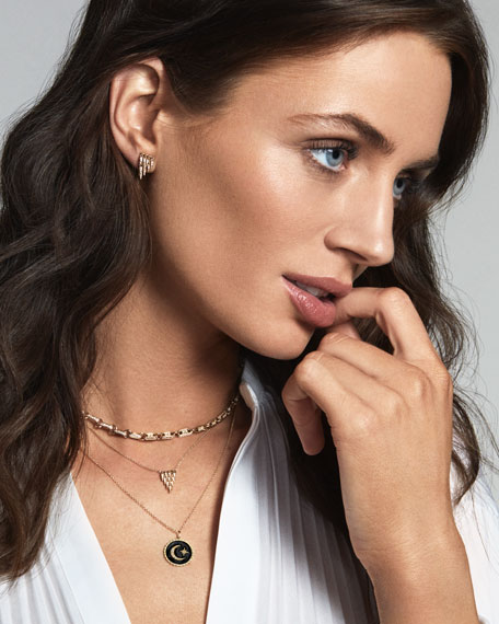 Sydney Evan 14k Diamond Love Script Medallion Necklace