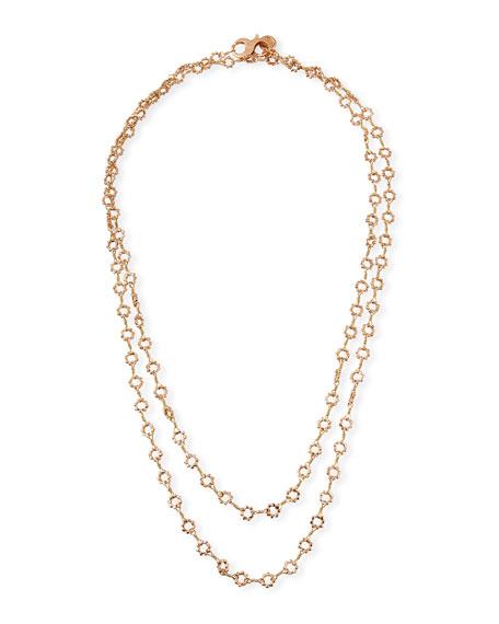 """Dominique Cohen 18k Rose Gold Mini Buddha-Link Necklace, 42""""L"""