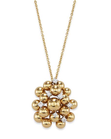 Staurino 18k Gold Bubble & Diamond Pendant Necklace