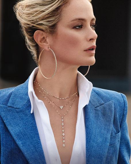 LANA 14k Skinny Flawless Diamond Curve-Hoop Earrings