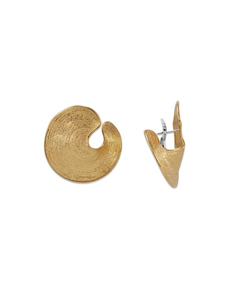 Staurino 18k Treasure Island Brushed Cuff Earrings