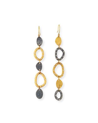 One-of-a-kind Mismatch Drop Earrings w/ Diamonds