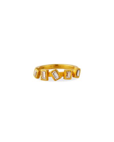 Reyna 24k 5-Diamond Ring