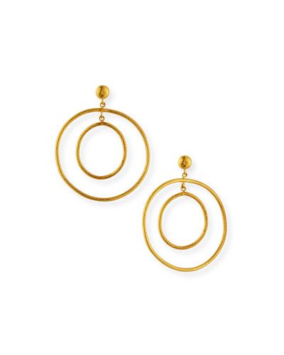 Rachel 24k Double-Hoop Earrings