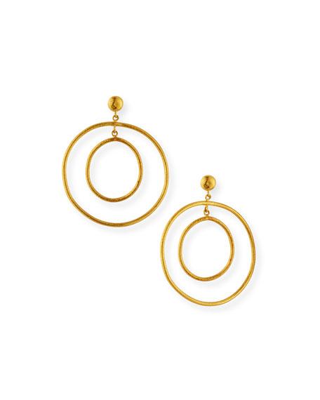 Yossi Harari Rachel 24k Double-Hoop Earrings