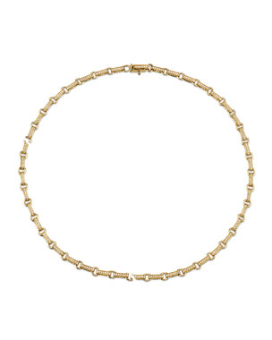 767aef129 Sydney Evan 14k Diamond Rectangular-Link Necklace