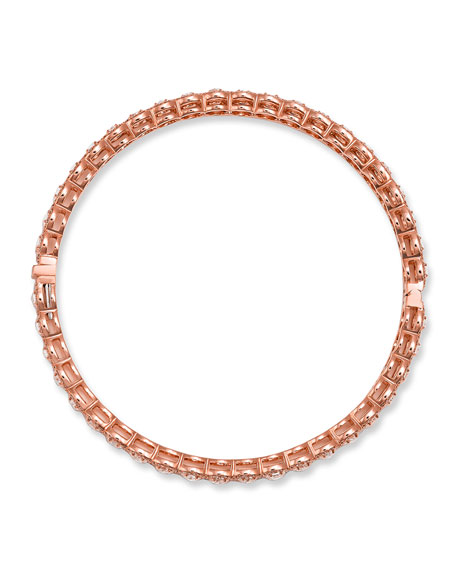 64 Facets 18K Rose Gold Hinged Diamond Bracelet