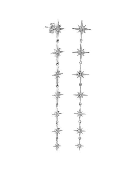 Sydney Evan 14k White Gold Diamond Starburst Drop Earrings