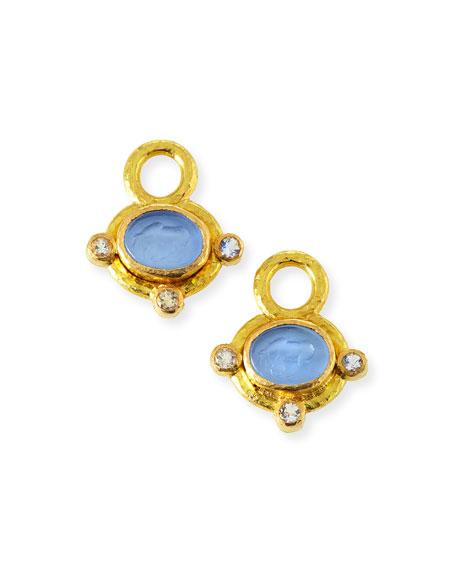 Elizabeth Locke 19K Venetian Glass Micro Horse Earring Charms
