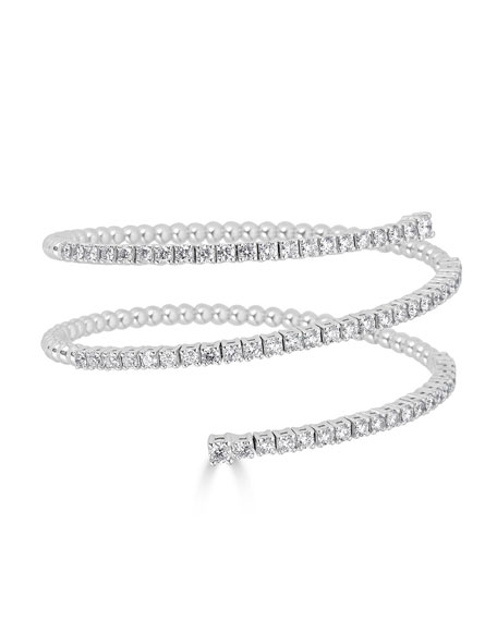 ZYDO Spiral 18k White Gold Diamond Bracelet