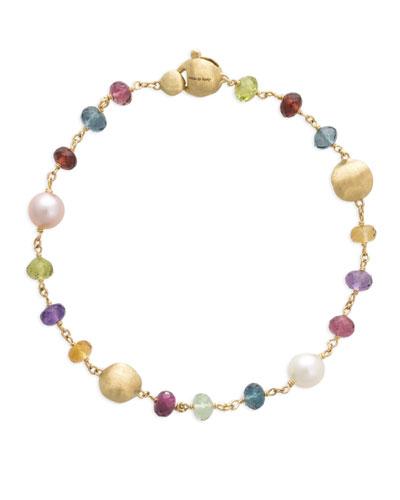 Africa 18k Mixed-Gemstone Bracelet w/ Pearls