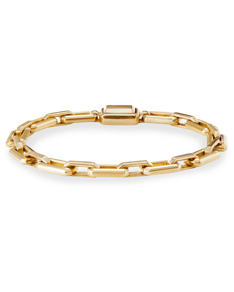 David Yurman Novella 18k Gold Bracelet, Size Small