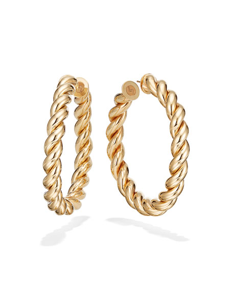 LANA 50mm Braid Royale Hoop Earrings