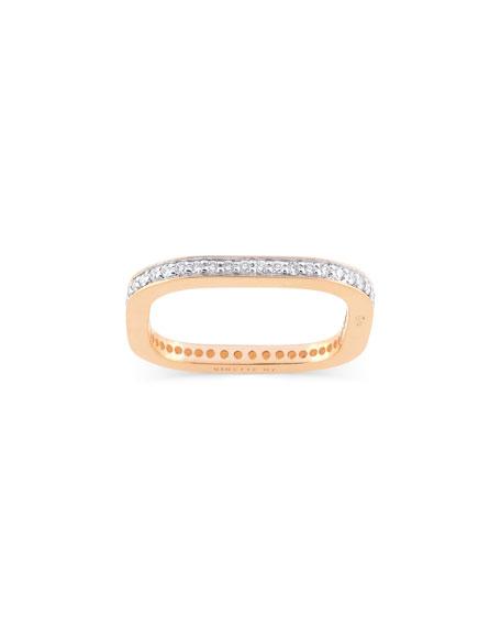 GINETTE NY TV 18k Rose Gold Diamond Ring, Size 7.5