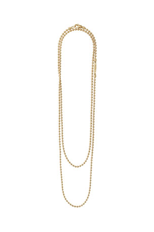 Lagos Caviar 18K Gold Long 2.5mm Ball-Chain Necklace