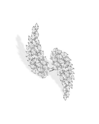 Angel Toi & Moi White Gold Diamond Ring  Size 53