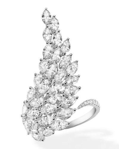 Angel White Gold Diamond Ring