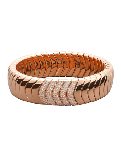 18k Rose Gold Diamond Stretch Bracelet
