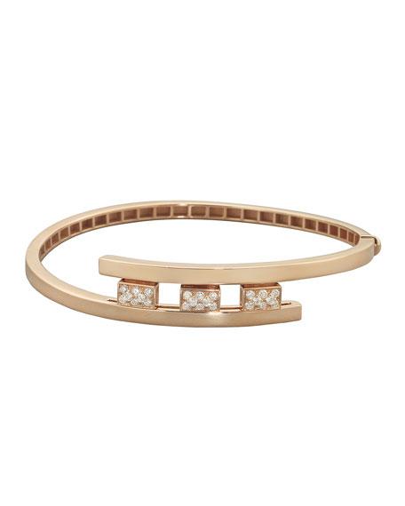 Mattia Cielo 18k Rose Gold 3-Diamond Pave Bracelet