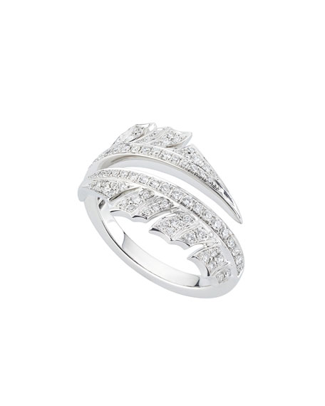 Stephen Webster Magnipheasant Diamond Pave Spilt Ring in 18k White Gold