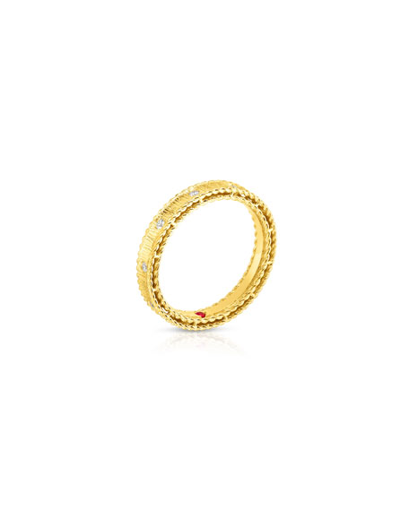 Roberto Coin Princess 18k Yellow Gold Diamond Ring, Size 6.5