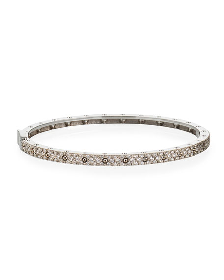 Roberto Coin Symphony 18k White Gold Diamond Bangle