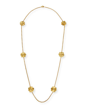 39f92d7e2b7 Marco Bicego Petali 18k Long 6-Flower Necklace