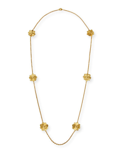 Petali 18k Long 6-Flower Necklace