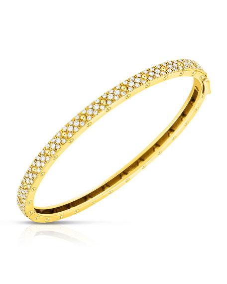 Roberto Coin Symphony 18k Yellow Gold Diamond Bangle
