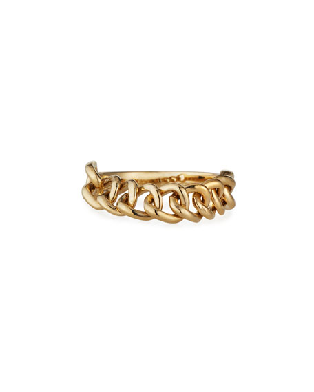 Stevie Wren Misfit 14k Yellow Gold Chain Ring, Size 7