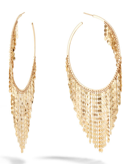 LANA 14k Fringe Hoop Earrings