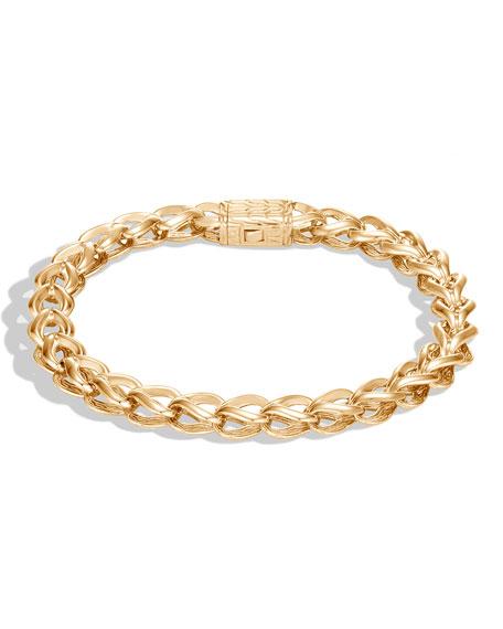 John Hardy Asli Classic Chain 18k Bracelet, Size S