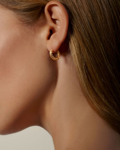 John Hardy Classic Chain 18k Gold Extra-Small Hoop Earrings