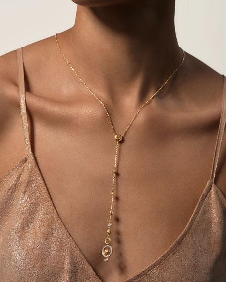 John Hardy 18k Hammered Y-Drop Necklace w/ Diamonds