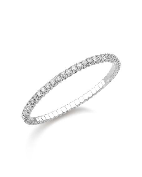 Picchiotti Xpandable 18k White Gold Round Diamond Bracelet, 55mm