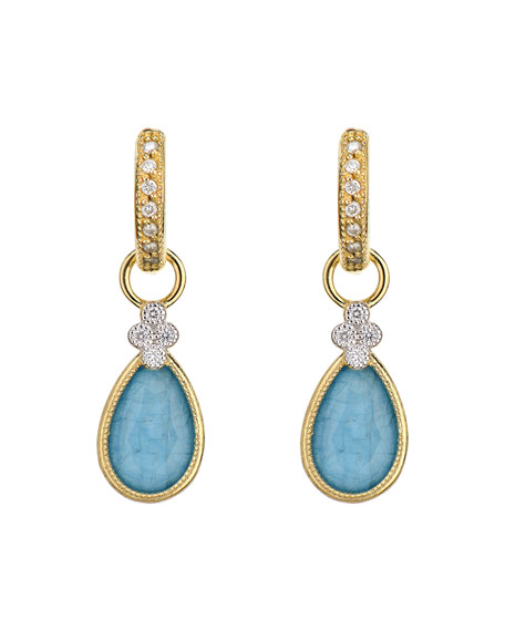Jude Frances Provence 18K Triplet Pear Earring Charms