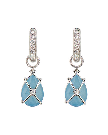 Jude Frances Tiny Crisscross-Wrapped Pear Earring Charms