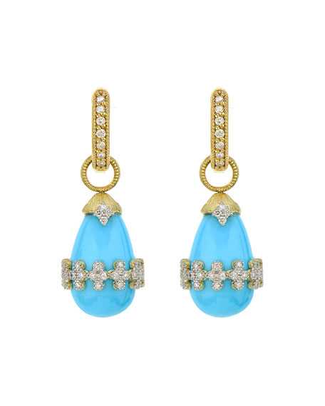Jude Frances Provence Quad-Wrapped Briolette Earring Charms