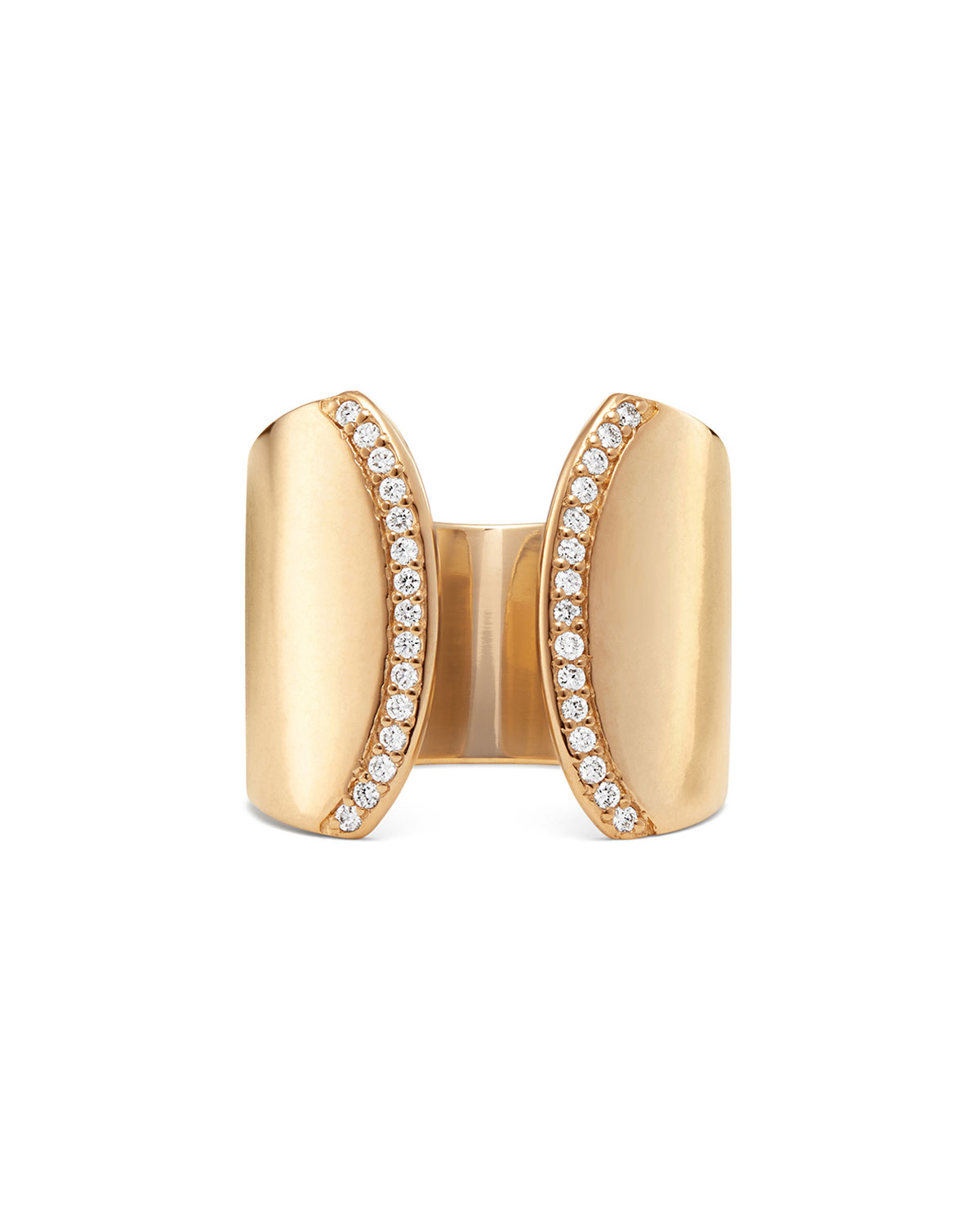 Lana 14k Diamond Elite Cigar Band Ring, Size 6