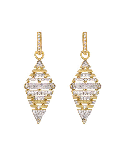 Lisse Large Pave Kite Earring Charms