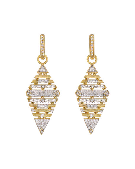 Jude Frances Lisse Large Pave Kite Earring Charms