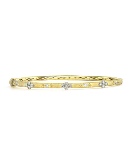 Jude Frances Provence Alternating Diamond Beaded Bangle