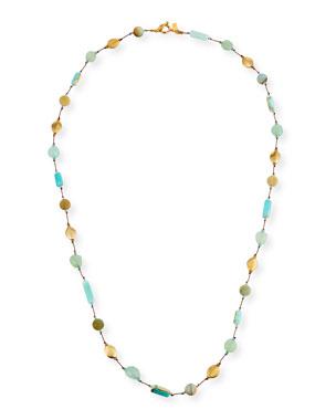 c18140f0ea142c Margo Morrison Long Opal & Chalcedony Necklace